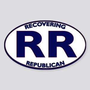 Are you a recovering Republican? Oval Sticker