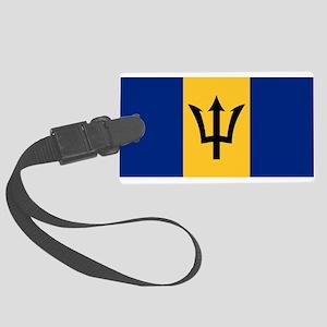 Flag Of Barbados Large Luggage Tag