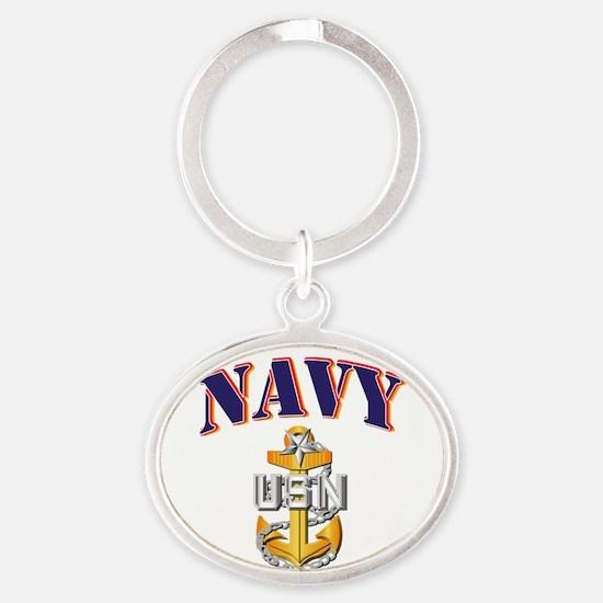 Navy - NAVY - SCPO Oval Keychain