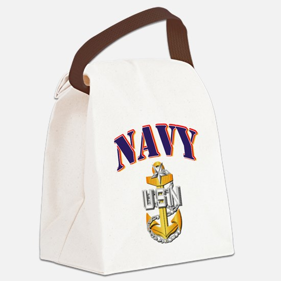 Navy - NAVY - SCPO Canvas Lunch Bag