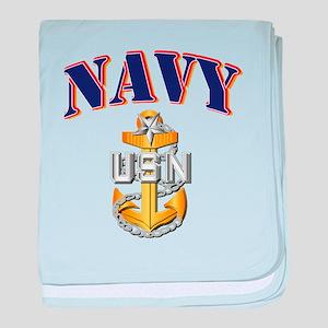Navy - NAVY - SCPO baby blanket