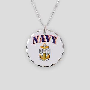 Navy - NAVY - SCPO Necklace Circle Charm