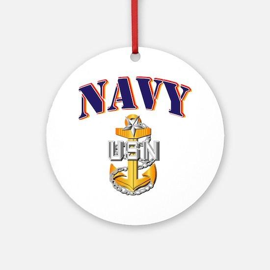 Navy - NAVY - SCPO Ornament (Round)