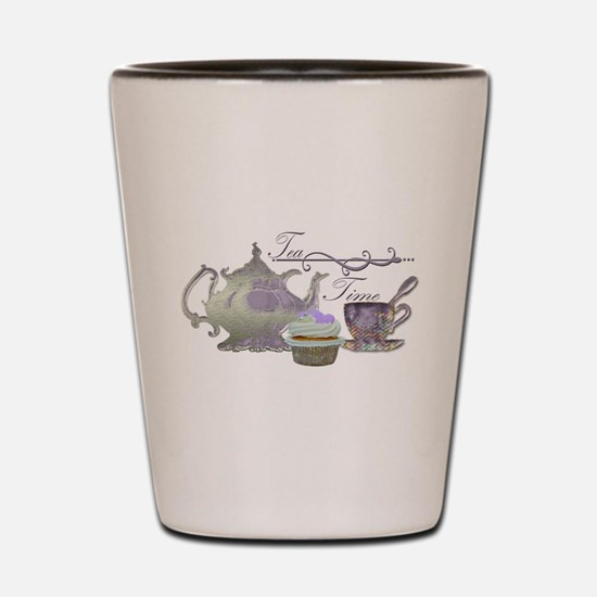 Tea Time Lilac Tea Set and Cupcake Shot Glass