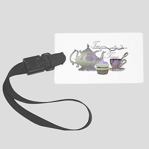 Tea Time Lilac Tea Set and Cupcake Luggage Tag