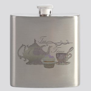 Tea Time Lilac Tea Set and Cupcake Flask
