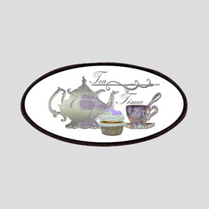 Tea Time Lilac Tea Set and Cupcake Patches