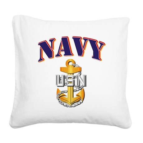 Navy - NAVY - CPO Square Canvas Pillow