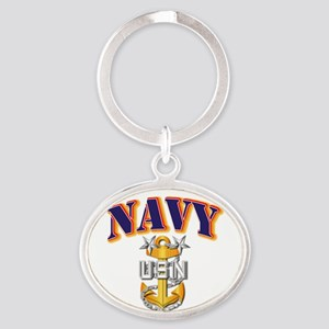 Navy - NAVY - MCPO Oval Keychain