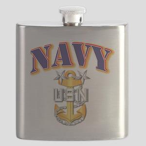 Navy - NAVY - MCPO Flask