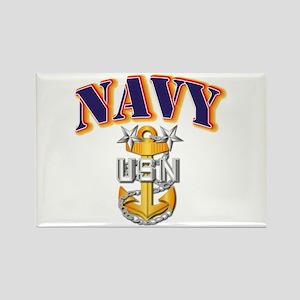 Navy - NAVY - MCPO Rectangle Magnet
