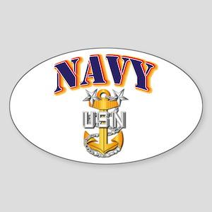 Navy - NAVY - MCPO Sticker (Oval)