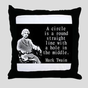 A Circle Is A Round Straight Line - Twain Throw Pi