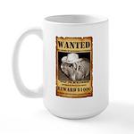 """Large Mug """"Wanted Piggie"""""""