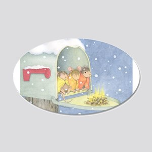 Warm, snowy snuggle Wall Decal