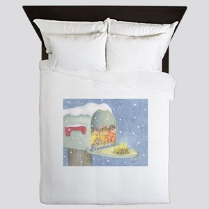 Warm, snowy snuggle Queen Duvet