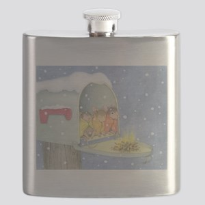 Warm, snowy snuggle Flask