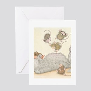 Kitty Trampoline Greeting Card