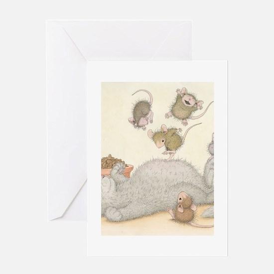 Kitty Trampoline Greeting Card