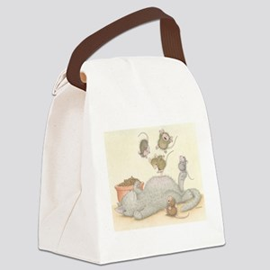 Kitty Trampoline Canvas Lunch Bag
