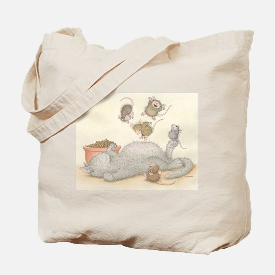 Kitty Trampoline Tote Bag