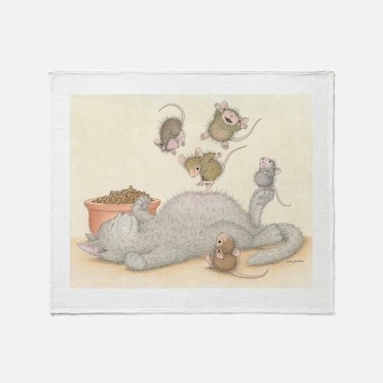Kitty Trampoline Throw Blanket