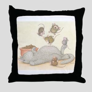 Kitty Trampoline Throw Pillow