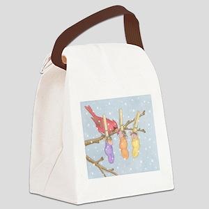Snowy Snuggle Canvas Lunch Bag