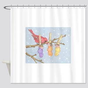 Snowy Snuggle Shower Curtain