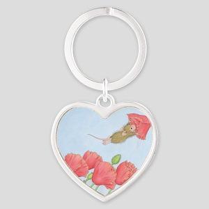 Poppy Power Heart Keychain