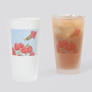 Poppy Power Drinking Glass