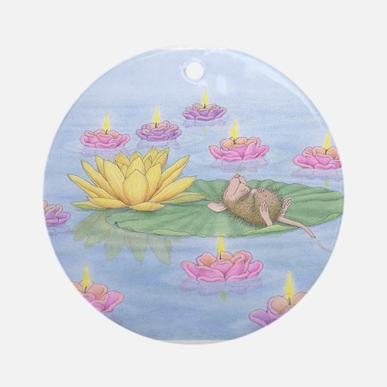Lily Pad Snooze Ornament (Round)