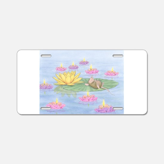 Lily Pad Snooze Aluminum License Plate