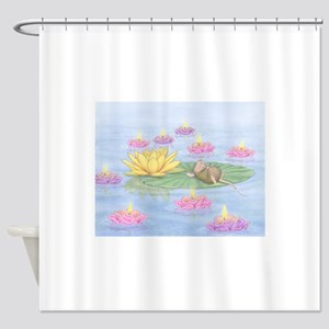 Lily Pad Snooze Shower Curtain
