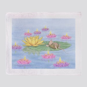 Lily Pad Snooze Throw Blanket
