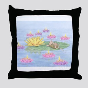 Lily Pad Snooze Throw Pillow