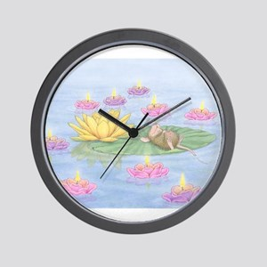 Lily Pad Snooze Wall Clock