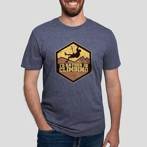 Rather Be Climbing Mens Tri-blend T-Shirt