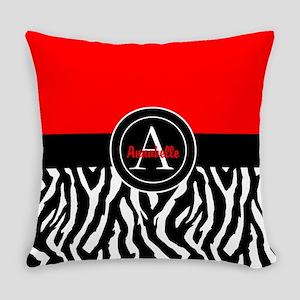 Red Zebra Everyday Pillow