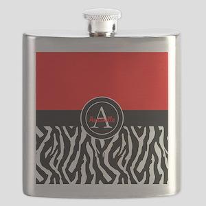 Red Zebra Flask