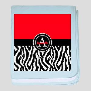 Red Zebra baby blanket