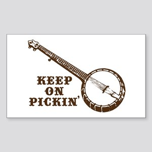Banjo Keep on Pickin' Rectangle Sticker