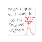 Ms Physique Square Sticker 3