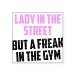 lady-in-the-street Square Sticker 3
