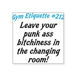 Gym-etiquette Square Sticker 3