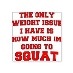 the-only-weight-issue-squat-b Square Sticker 3