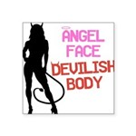angel-face Square Sticker 3