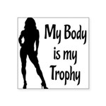trophy Square Sticker 3