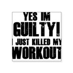 workout-b Square Sticker 3