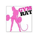 gym-rat Square Sticker 3